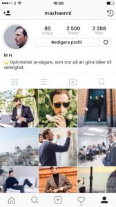 instagram beskrivning