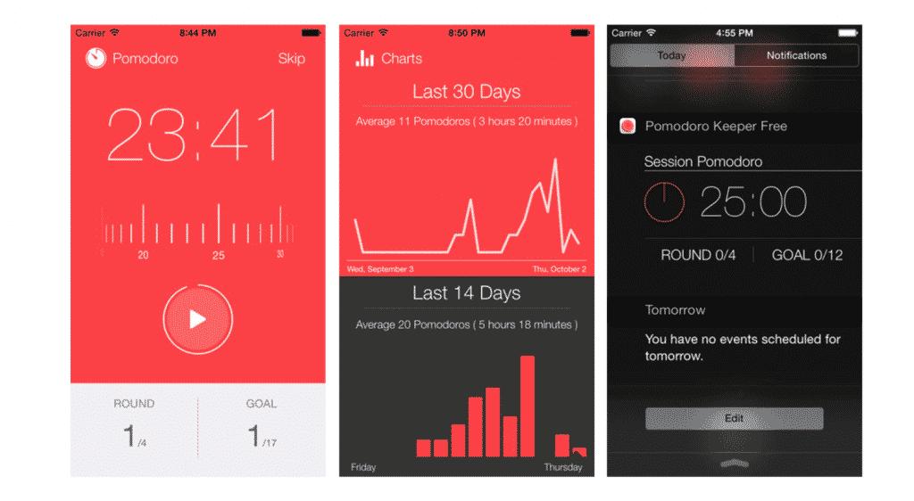 Pomodoro Keeper app